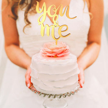 Wedding Cake Topper - You and Me (WCT00065)