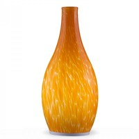 Hand Painted Orange Blown Glass Vase LED Mobile Lamp