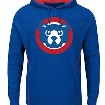 Men's Chicago Cubs Majestic Cooperstown Left/Righty Pullover Hoodie