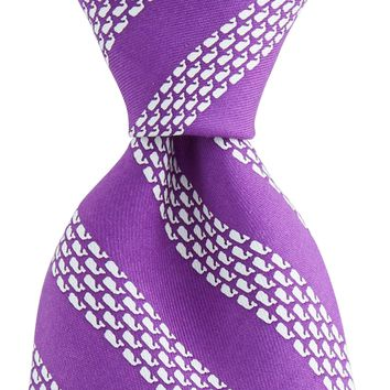 Vineyard Vines, Whale Rep Stripe Tie, Purple