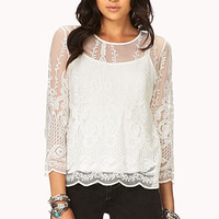 Whimsical Embroidered Top