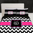 Custom Personalized Chevron Bedding Set  Queen  size  by redbeauty