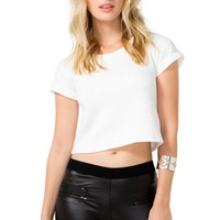 Leila Quilted Boxy Tee