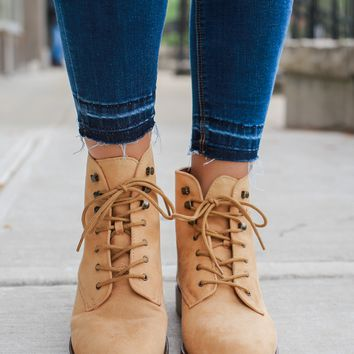 Seize the Day Booties - Toffee