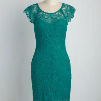Game of Glam Dress in Teal