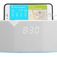 WITTI Design BEDDI Smart Radio Alarm Clock Speaker with Smart Home Integration, White