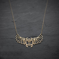 Geometric Scarab Necklace