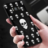 Skull Case For Samsung Galaxy S8 and S8 Plus Anti Shock Soft TPU Cover Cool Ultra Slim 3D 360 Full Protection