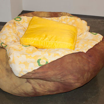 Baked Potato Bean Bag Chair w/ Butter Pillow by brookish7 on Etsy