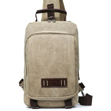 Streetstyle  Casual Canvas Travel One Shoulder Backpack