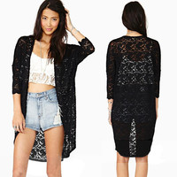 Zeagoo 3/4 Sleeve Lace Top
