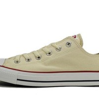 DCKL9 Converse Unisex: All Star Ox Natural White Sneaker