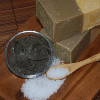 Dead Sea Mud & Sea Salt Soap - Mud Soap - Sea Salt Soap - Spa Soap
