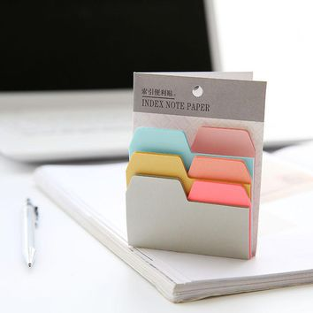 12 pcs/Lot Index sticky notes 6 color 90 sheets memo pads Mini color stickers for book marker Office School supplies 6188