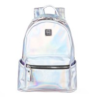 MapleClan Girls' Favorite Harajuku Travel Bag Shiny Backpack White