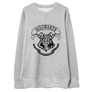 Harry Potter Print Pullovers Oversized Sweatshirts Hoodies Women Long Sleeve White Black Harajuku Hoodie Casual Loose Tracksuit