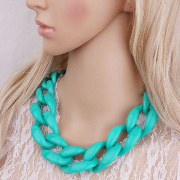 New Jewelry Statement necklace chain cord chunky choker necklace colors big chain necklace fashion jewelry women necklace