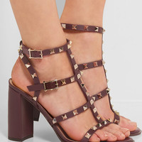 Valentino - The Rockstud embellished leather sandals