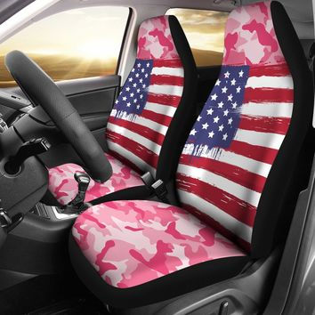 Pink U.S Army Car Seat Covers