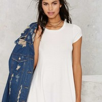 Nasty Gal Take the Shirt Cut Dress - White