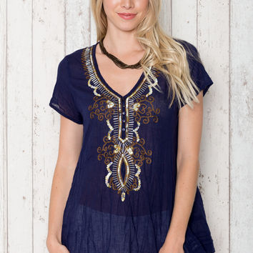 Sparkle Shirt in Navy