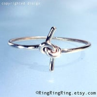 soldered knot ring in solid sterling silver ring by RingRingRing
