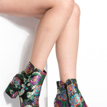 Black Floral Print Ankle Booties @ Cicihot. Booties spell style, so if you want to show what you're made of, pick up a pair. Have fun experimenting with all we have to offer!