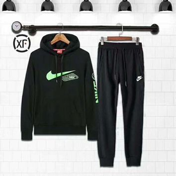 CREYV9O Nike Fashion Casual Hoodie Sweater Pants Trousers Set Two-Piece G-MLDWX
