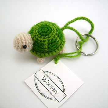 amigurumi turtle, cute key chain, small animal, crochet, gift