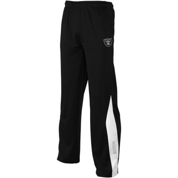 Oakland Raiders Youth Deflect Unbreakable Track Pants - Black - http://www.shareasale.com/m-pr.cfm?merchantID=7124&userID=1042934&productID=547704995 / Oakland Raiders
