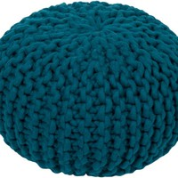 Stewart Knitted Pouf TEAL