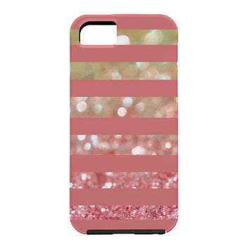 Lisa Argyropoulos Champagne Tango Stripes Cell Phone Case