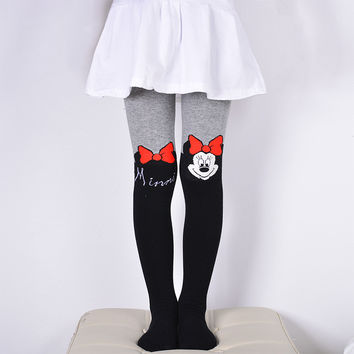 Toddler girls Pantyhose Cartoon Cute Cat Bunny KT Baby Tights Cotton thick Children Stocking Baby Pantyhose For Kid 2-9Years