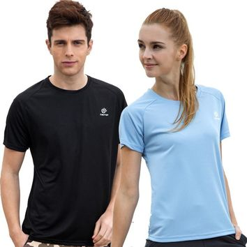 Tectop outside sport hiking lovers t-shirt breathable short-sleeve summer male quick-drying t-shirt