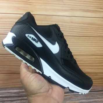 DCCK Nike Air Max 90 325213 060 Nike black and white Air cushion running shoes men's shoes