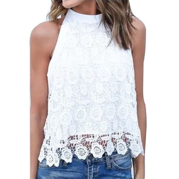 Lace Floral Crochet Top