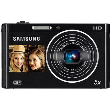 """Walmart: Samsung DV300F Black 16MP DualView Digital Camera w/ 5x Optical Zoom, 3.0"""" Back and 1.5"""" Front Displays, WiFi Connectivity"""