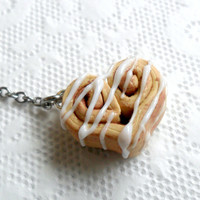 Cinnamon Bun Heart Phone Charm, Dust Plug or Cell Phone Strap, Kitsch Tiny Cinnamon Rolls, Cute And Kawaii :D