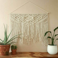 "Large macramé wall hanging, tapestry, weaving. ""Samantha""."