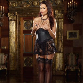 Sophia Open Cup Waist Corset and Thong
