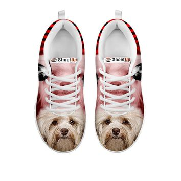 Cute Havanese Print Running Shoe For Women- Free Shipping-For 24 Hours Only
