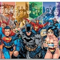 Justice League JL Movie Wall Silk Poster  Big Prints Boy Room Superman Batman Flash HawkGirl Wonder = 1946076036
