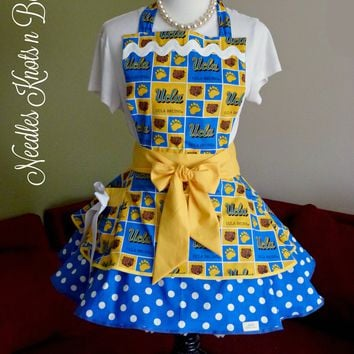 Womens UCLA Bruins Apron, Bruins Flirty Apron, Tailgaters, Bruins Football, Baseball, Aprons