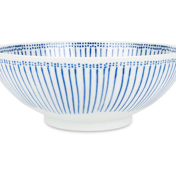 Blue Stripes Serving Bowl