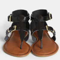 Jezebel Buckled Sandals - $35.00 : ThreadSence, Women's Indie & Bohemian Clothing, Dresses, & Accessories