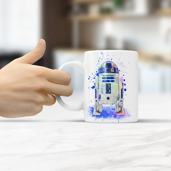 R2D2 Star Wars 7 coffee mugs travel mugs creactive cups ceramic white mug home decal porcelain tea cups drink water milk beer