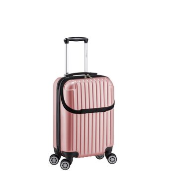 Euro Style Collection Ibiza Luggage Travel Bag ABS Trolley Spinner Suitcase Pink