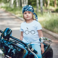 Summer Harry Potter Boys T-shirts Fashion Simple Funny Popular Cute Children Girls Clothes O-Neck Tshirt Brand Kids Tops EH1280
