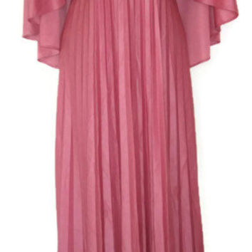 plus size dress capelet maxi pink cape 12 14 1x extra large xl