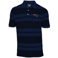 Cutter & Buck New England Patriots Home Field Striped Polo - Navy Blue/Black